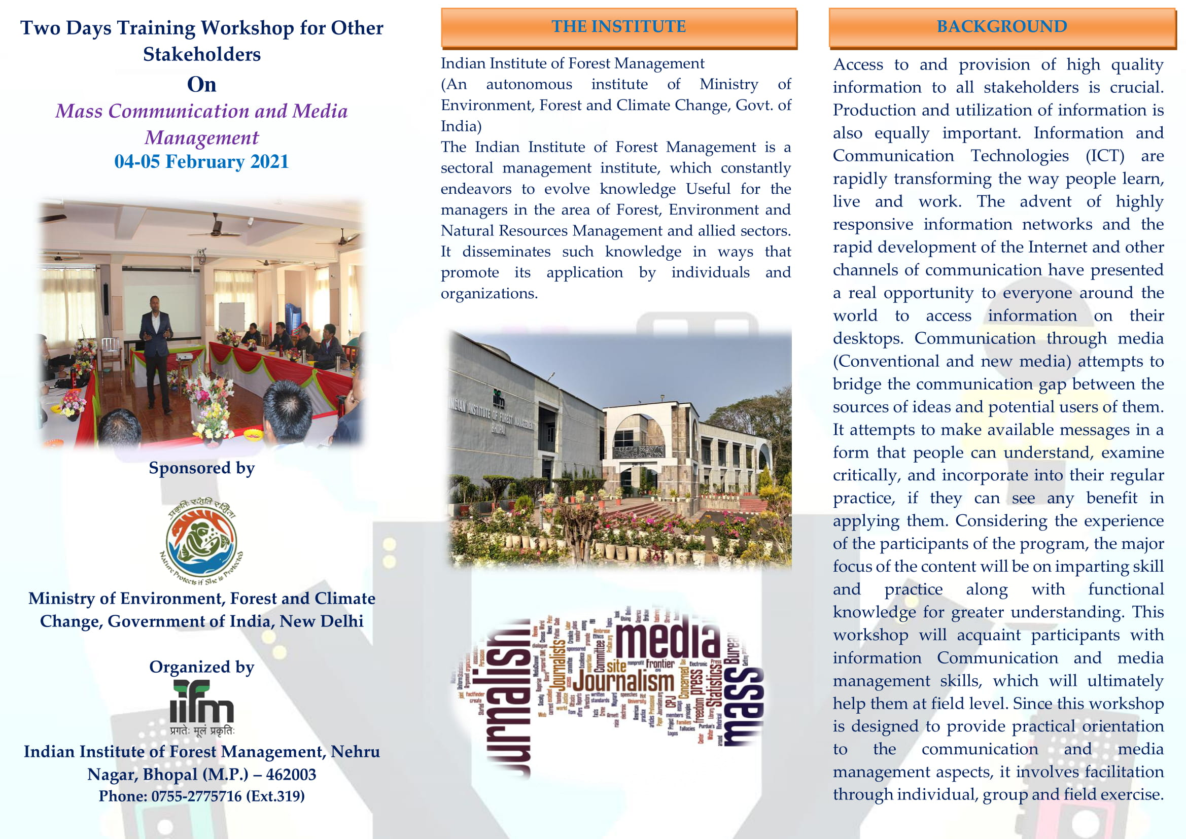 Brochure for Workshop on Mass Communication and Media Mgmt.-1